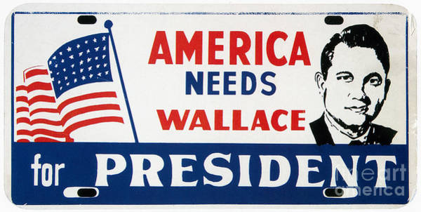 Wall Art - Photograph - Wallace Campaign, 1968 by Granger