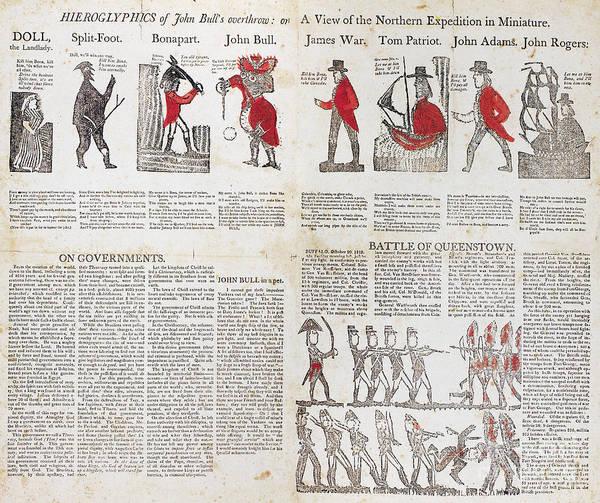 Militiaman Photograph - War Of 1812: Broadside by Granger