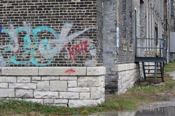 Photograph - Warehouse Grafitti 2 by Anita Burgermeister