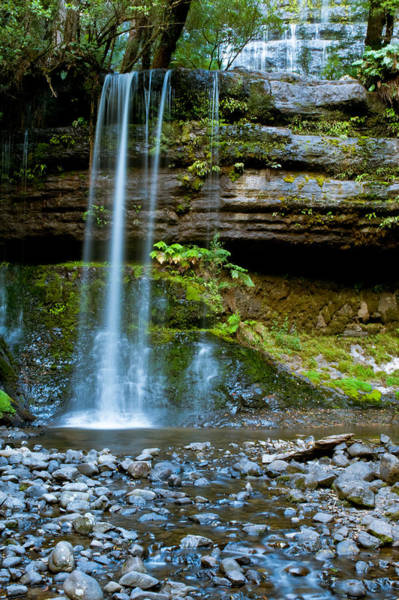 Photograph - Waterfall In Deep Forest by U Schade