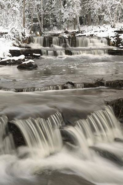 Wall Art - Photograph - Waterfalls With Fresh Snow Thunder Bay by Susan Dykstra