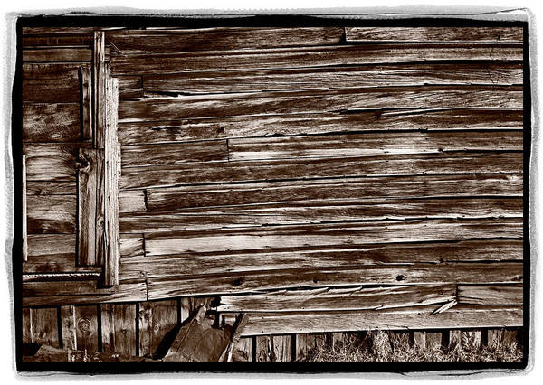 Bodie Ghost Town Wall Art - Photograph - Weathered Wall In Bodie Ghost Town by Steve Gadomski