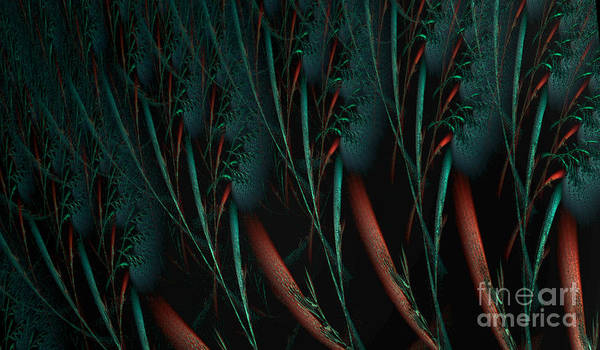 Phantasy Digital Art - Weird Plants by Jan Willem Van Swigchem