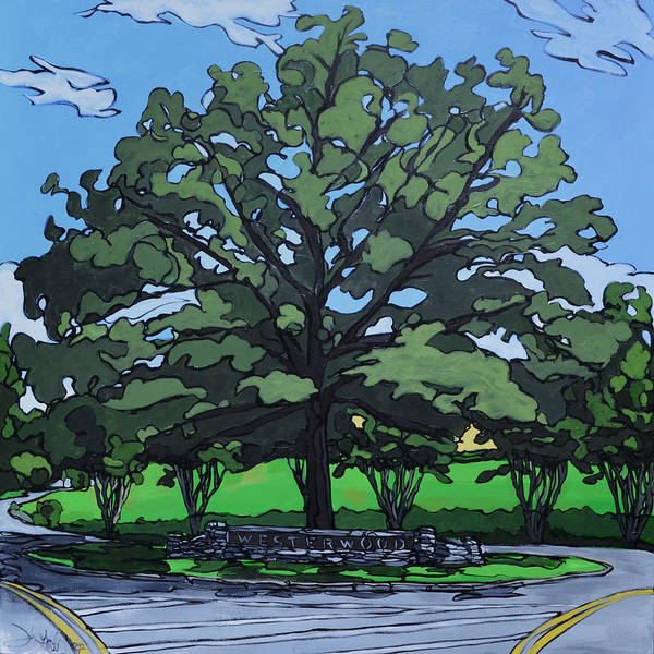 Painting - Westerwood Tree by John Gibbs