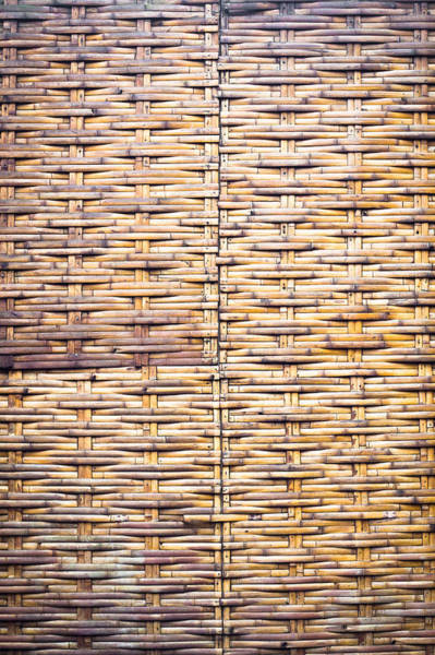 Weaving Photograph - Wicker Background by Tom Gowanlock
