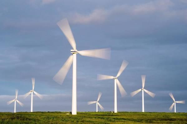 Dun Photograph - Wind Farm, Scotland by Duncan Shaw
