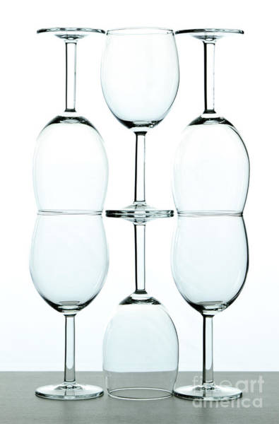 Receptions Photograph - Wine Glasses by Blink Images