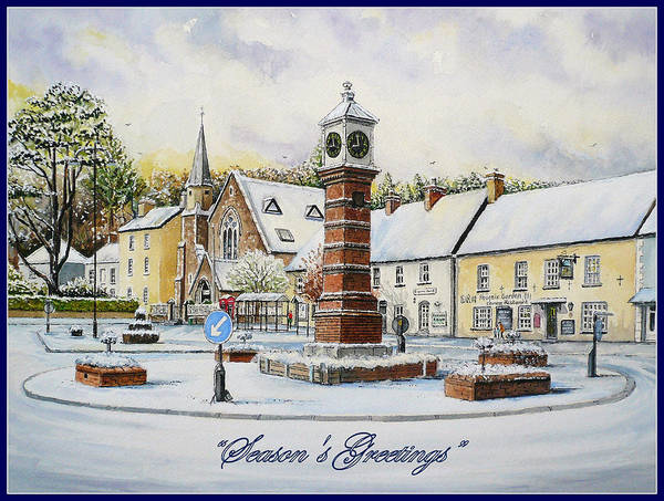 Wall Art - Painting - Winter In Twyn Square by Andrew Read
