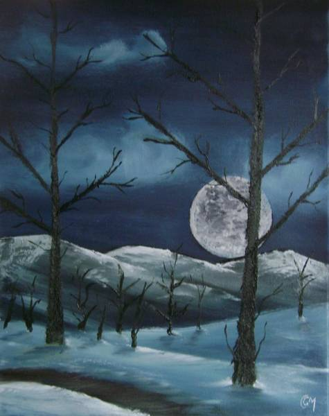 Painting - Winter Night by Charles and Melisa Morrison
