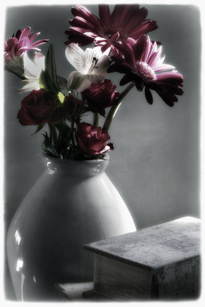 Filoli Photograph - Red Floral Still Life  by Linda Dunn