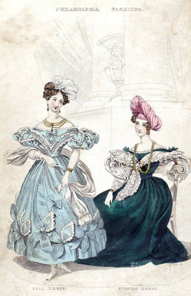 Photograph - Womens Fashion, 1833 by Granger