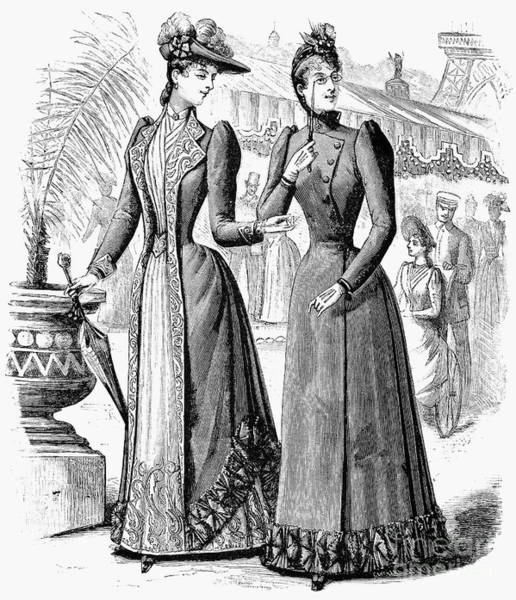 Photograph - Womens Fashion, 1889 by Granger