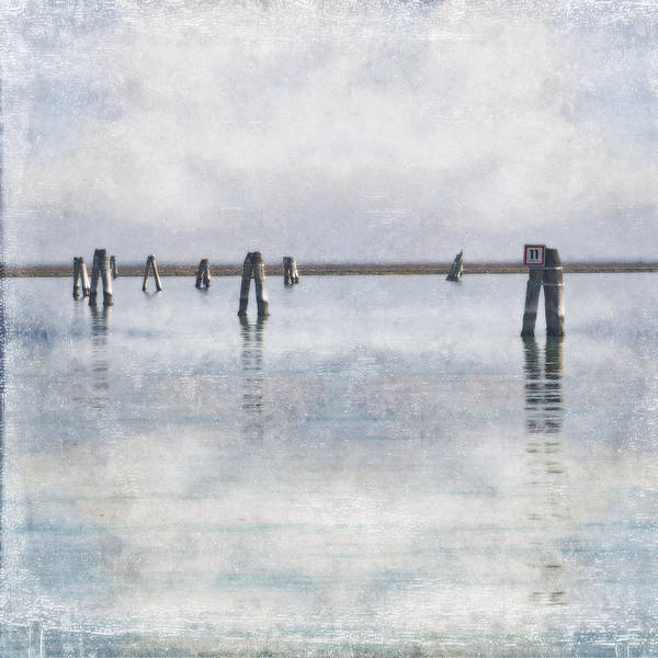 Wood Pile Photograph - wood piles in the lagoon of Venice by Joana Kruse