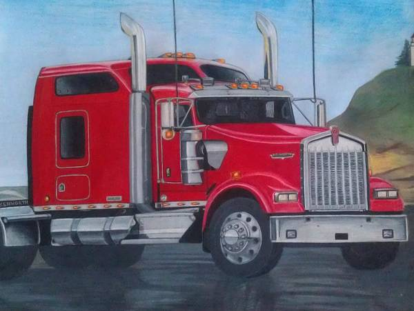 Trailer Drawing - World Class by Roxanne McGowne
