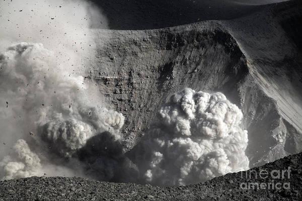 Yasur Photograph - Yasur Eruption, Tanna Island, Vanuatu by Martin Rietze