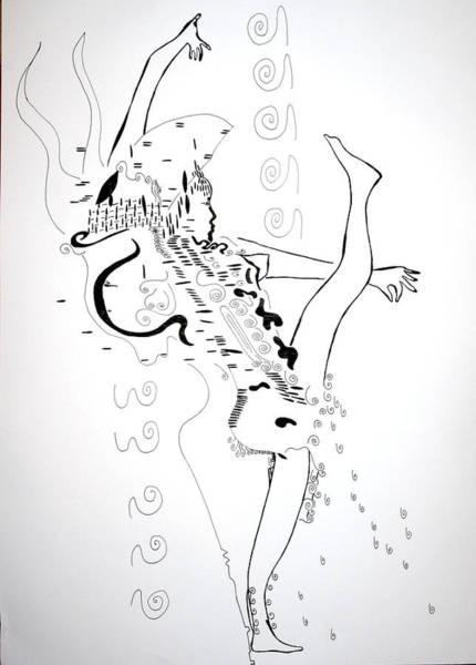 Traditional Dances Drawing - Zulu Dance - South Africa by Gloria Ssali