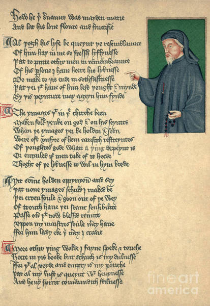 Photograph - Geoffrey Chaucer by Photo Researchers