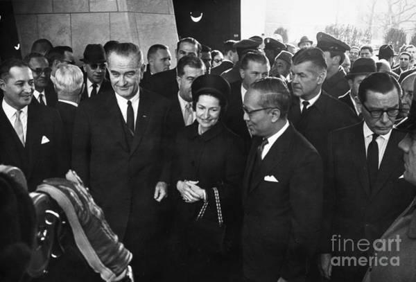 Delegation Photograph - Lyndon Baines Johnson by Granger