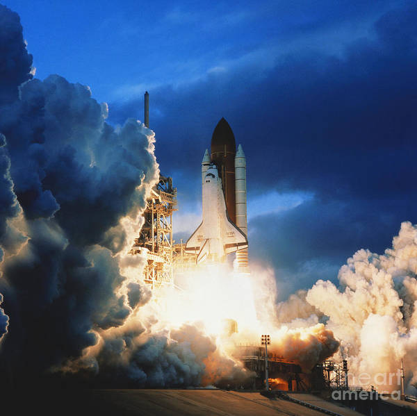 Photograph - Shuttle Lift-off by Science Source