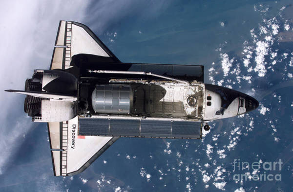 Aft Photograph - Space Shuttle Discovery by Nasa