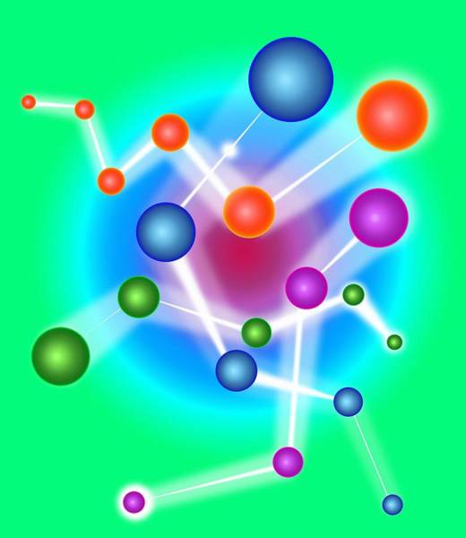 Wall Art - Photograph - Subatomic Particles, Artwork by Mehau Kulyk