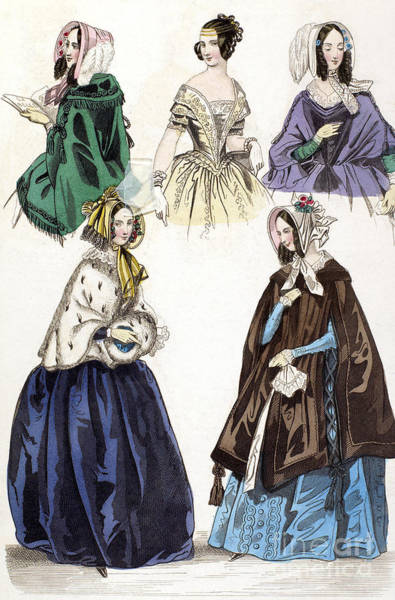 Photograph - Womens Fashion, 1842 by Granger
