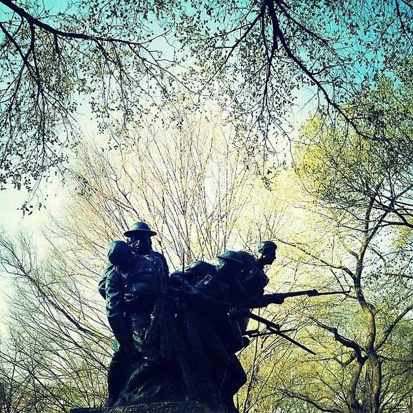 Military Photograph - 107th Infantry Regiment Memorial by Natasha Marco