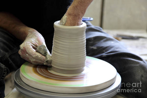 Potters Wheel Wall Art -  - Pottery Wheel, Sequence by Ted Kinsman