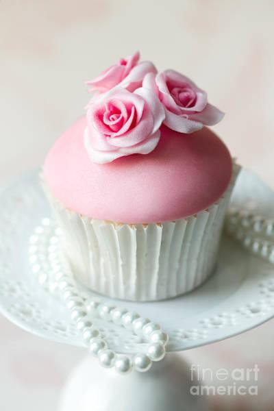 Wedding Flower Photograph - Rose Cupcake by Ruth Black