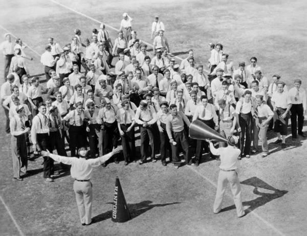 Cheerleaders Photograph - Silent Film Still: Sports by Granger