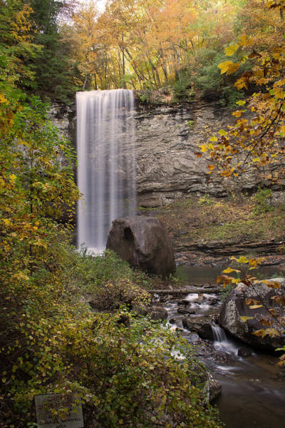 Cloudland Canyon Photograph - Waterfall by David Troxel