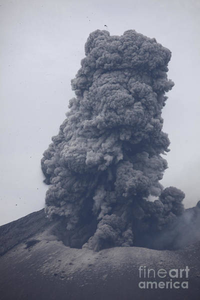 Photograph - Ash Cloud Eruption From Sakurajima by Richard Roscoe