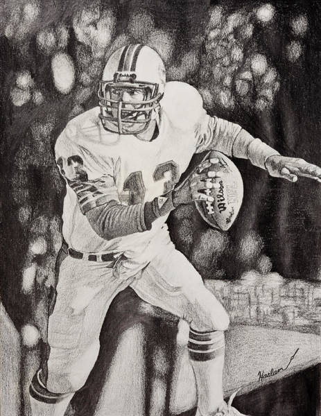 Super Bowl Drawing - 13 by Mike  Haslam