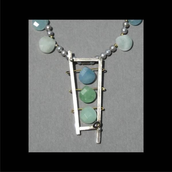 Freshwater Pearls Wall Art - Jewelry - 136 Seashore by Brenda Berdnik