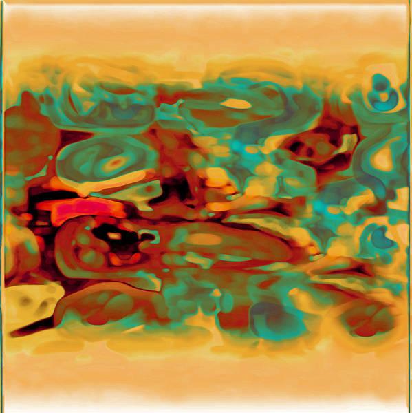 Art Print featuring the digital art Pastel by Mihaela Stancu