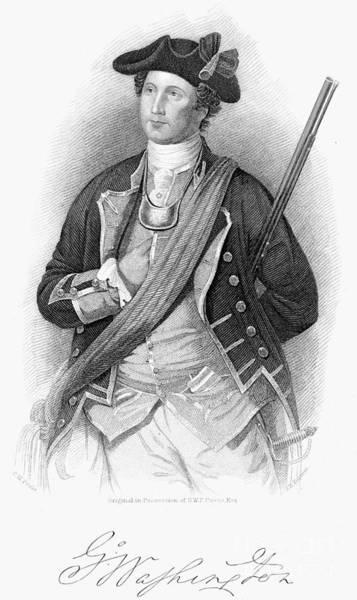Militiaman Photograph - George Washington by Granger