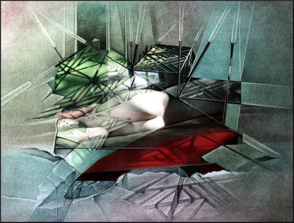 Mixed Media - #16 Steelstairnudecomp 2003 by Glenn Bautista
