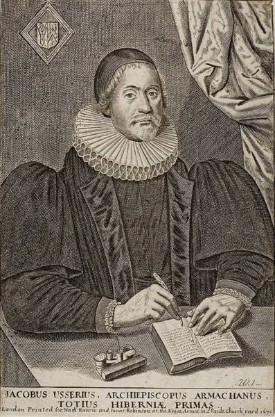 Wall Art - Photograph - 1650 Bishop Usher Portrait 4004bc by Paul D Stewart