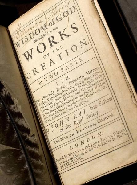 Creationist Wall Art - Photograph - 1691 John Ray's Natural Theology by Paul D Stewart