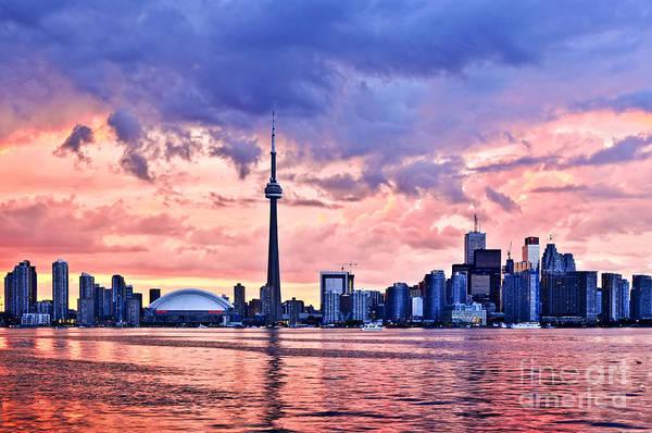 Wall Art - Photograph - Toronto Sunset Skyline by Elena Elisseeva