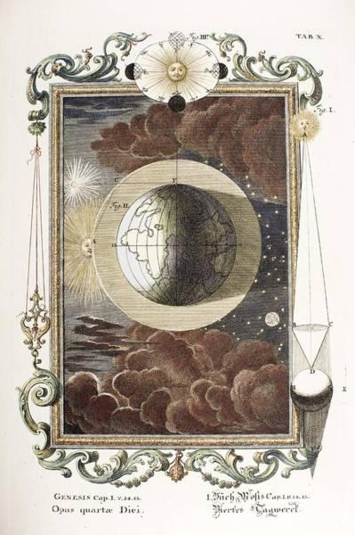 Creationist Wall Art - Photograph - 1731 Johann Scheuchzer Creation 4th Day B by Paul D Stewart