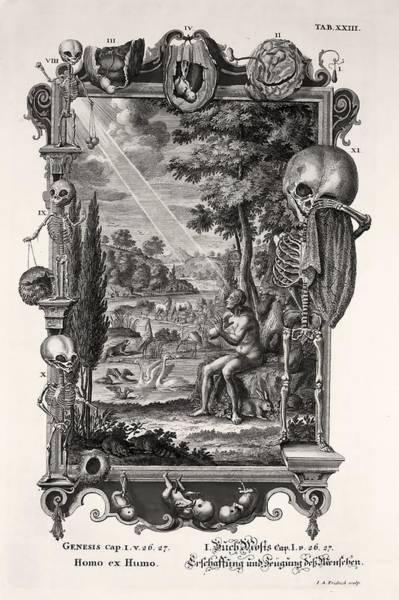 Creationist Wall Art - Photograph - 1731 Johann Scheuchzer Creation Of Man by Paul D Stewart