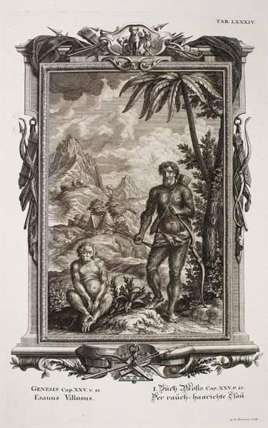 Creationist Wall Art - Photograph - 1731 Johann Scheuchzer Hairy Esau Bible by Paul D Stewart