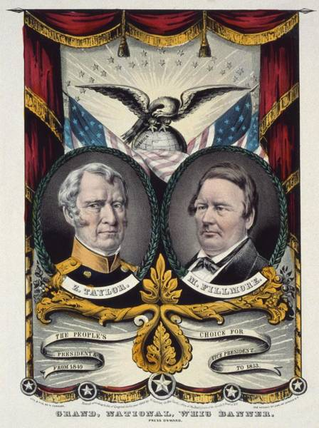 Whig Photograph - 1848 Campaign Banner For Whig Party by Everett