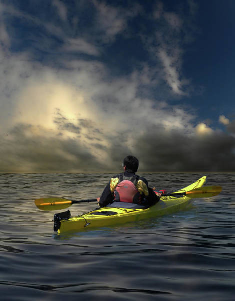 Kayak Photograph - 1874 by Peter Holme III