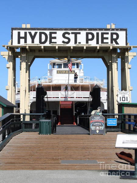 Photograph - 1890 Steam Ferryboat Eureka At The Hyde Street Pier In San Francisco California . 7d15117 by Wingsdomain Art and Photography