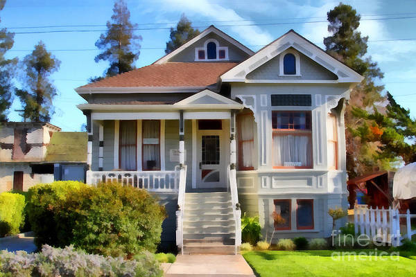 Photograph - 1890s Queen Anne Style House . 7d12965 by Wingsdomain Art and Photography