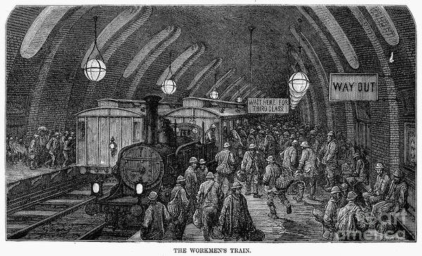 Railroad Station Drawing - London by Gustave Dore