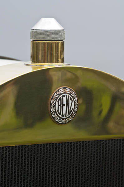 Photograph - 1908 Benz Grand Prix Hood Emblem by Jill Reger