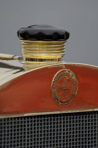 Photograph - 1908 Mercedes 150 Hp Race Car Hood Emblem by Jill Reger